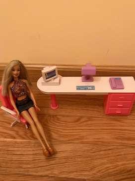 Mueble para barbie escritorio oficina