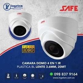 CAMARA DOMO 4 EN 1 IR PLASTICA 1080P BLANCA LENTE 3.6MM 20MT SAFE