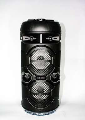 Cabina Parlante de Sonido Portátil de 8 Pulgadas de bluetooth-Radio-USB-SD-Micrófono