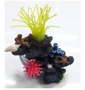 Coral con anémona decorativo para pecera NUEVO