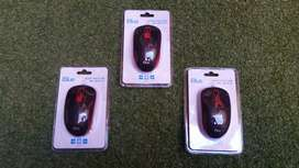 Mouse iBlue Optico Alambrico Usb XMK-180 RD V2 Diseño Ergonómico