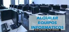 Computadoras y Laptops, HP LENOVO DELL, TABLETS Para Corporativos y Particular x Sem-Mes-Anual ALQUILER y VENTA