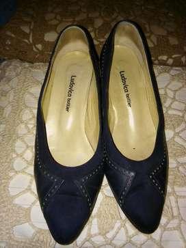 Vendo Zapato de Cuero Y Gamuza