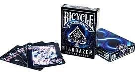 Cartas Bicycle Stargazer Galaxia Cara Y Dorso Negro Agujero.