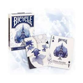 Carta Bicycle Porcelain Elegancia Flores Chinas Pez Original