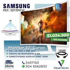 Monitor Curvo Blanco 32 Pulgadas  Samsung