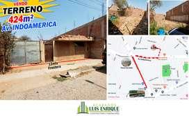 Venta TERRENO de 424m², Incluye casa en calle Boston, Paralela a Av. Indoamerica,Trujillo Agregar a favoritos