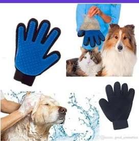 Guante De Masajeador Para Mascotas Perros Gatos Silicona