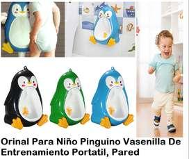 Orinal Portátil Entrenamiento Pingüino Niño Y Bebe