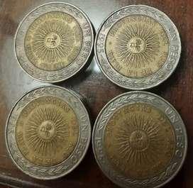 Moneda de 1 pesos con error de impresión(coleccionistas) precio c/u