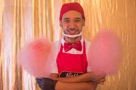 Algodón de azúcar crispetas, magos, payasos, eventos, fiesta infantiles