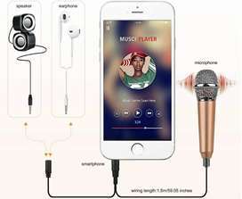Mini micrófono celular Windows Mac Android iOS karaoke