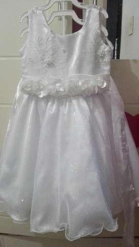 Vestido de Bautizo Niña Talla 4