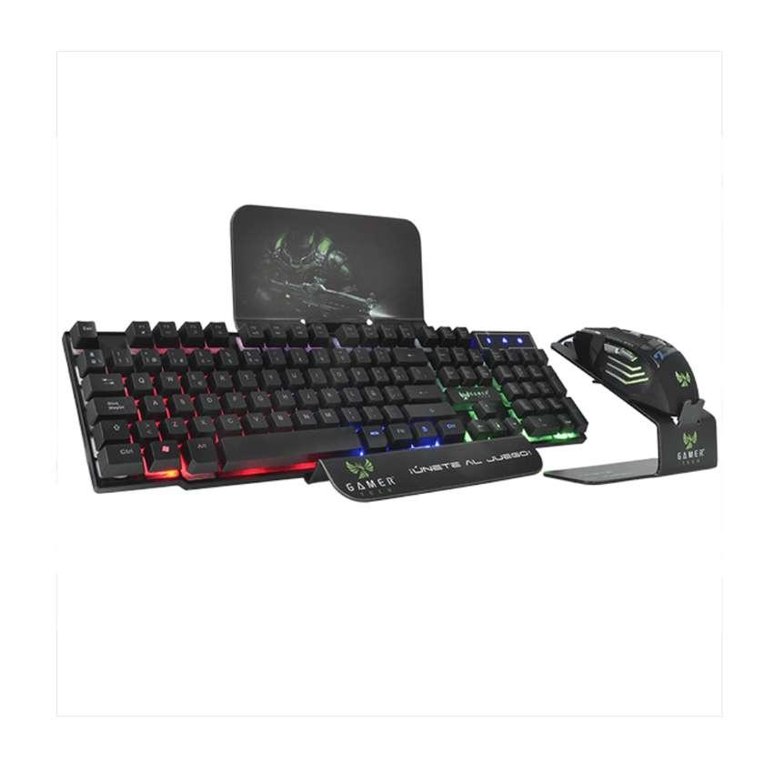 Combo Teclado Led Rgb Y Mouse 7d Gamer Jaltech Tech Gt300c