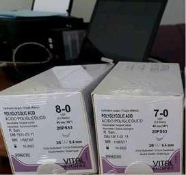 VICRYL OFTALMICO 6-0 7-0 8-0 DOBLE AGUJA ACIDO POLIGLICOLICO POLIGLACTIN