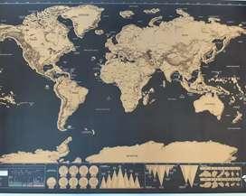 Mapa viajero para raspar