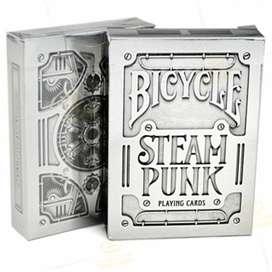 Baraja De Cartas Bicycle Steampunk Silver. Por Banimported