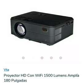 Vendo proyector + blackout blanco