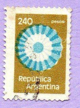 SELLO N 1863(JALIL) DE ARGENTINA COLORES DESPLAZADOS