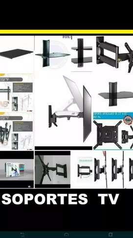 Soportes para televisores de pared plasma y smart tv