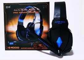 Audifono Diadema Gamer Kotion Each G4000 Usb Microfono Azul
