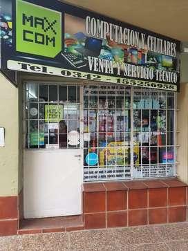 Vendo llave de local comercial de vta y st de computación y celulares
