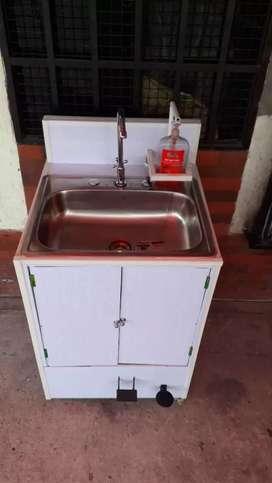 Lavamanos portatil autonomo,no requiere conexiones,ideal para empresas,oficinas,conjuntos residenciales.