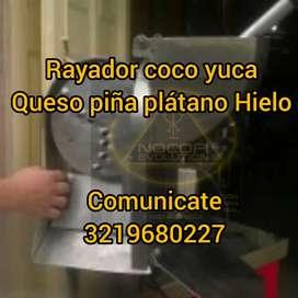 Rayador para. Coco queso yuca platano Hielo-DESCASCARILLADORA TOSTADORA DESPLUMADORA DESPULPADORA SILO  PRENSA CACAO