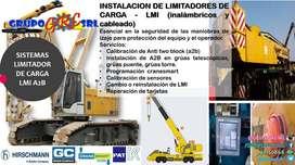 instalación de sistema de seguridad para izaje - limitadores de carga