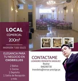 LOCAL COMERCIAL PARA OFICINAS Y TIENDA EN CHORRILLOS
