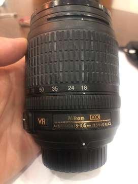 Lente Nikon 18-105mm vr f3.5-5.6