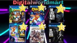 Videos juegos play station 4 original más de 100 disponibles