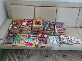 Aprox. 85 revistas de Tomy, D'Artagnan, Intervalo, Fantasía, Mágnum, Paturuzu , Anuarios y otros