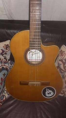 Guitarra Criolla Fonseca Mod 41kedec Media Caja Con Corte Y Eq