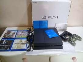 PlayStation 4 500gb +2 joystick +4 juegos