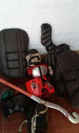 equipo arquera hockey
