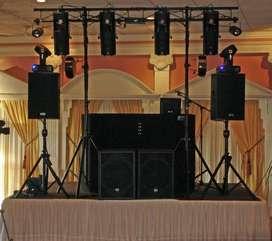 Evento total. Alquilamos sonido e iluminación para todo evento
