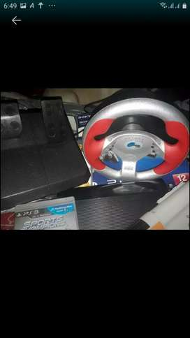 Vendo liquido Ps3 pc ps3 Volante y pedales con usb para ps2 ps3 y pc nuevos 2 usadas nomas