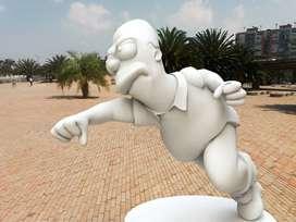 Esculturas en icopor con acabados en resina o fibra de vidrio