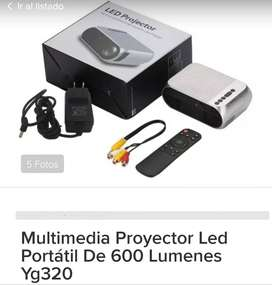 Multimedia Mini Proyector Led Portátil De 600 Lumenes