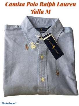 Camisa marca Polo Ralph Lauren  azul M slim fit