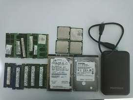 Vendo discos duros , memorias ram y procesadores