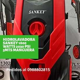 Hidrolavadora sankey 1800 watts 6 litros 2030 psi 5 mts manguera
