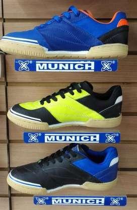 Zapatos Tenis Munich Grexca Cuero Zapatillas Fútsal Salón