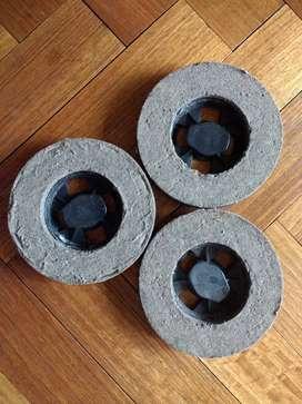 Cepillos de Fieltro para Lustradora Yelmo x 3 uni. Usados