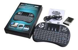 Mini Teclado Inalámbrico Touchpad Qwerty Smart Tv Box