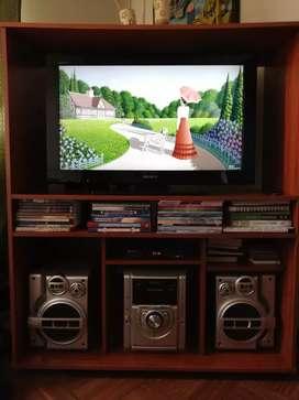 Promo Centro de Entretencion Tv+Equipo+Mueble