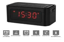 Reloj despertador altavoz Bluetooth micro sd USB recarga