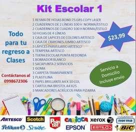 Venta de kit Escolares