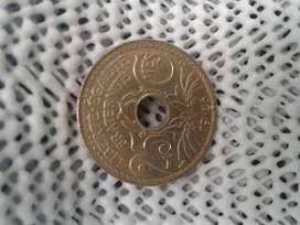 antigua moneda francesa 1926 de 25 centimes